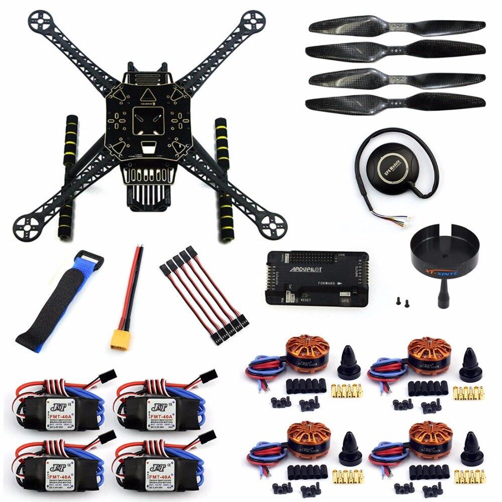 DIY GPS Drone Racer APM 2.8 Contrôleur de Vol S600 4-Axis Démontées Quadcopter Kit avec Train D'atterrissage AT9S FS-I6 Émetteur
