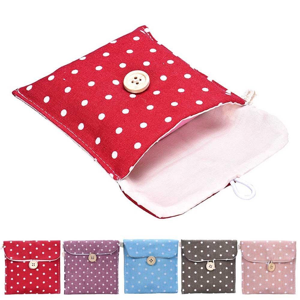 TAILUP Organizer Sanitary-Napkin Storage-Bags Package Diaper Girl Cotton U61121 Drop-Ship