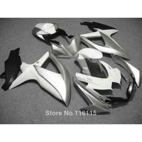fairing kit for SUZUKI K8 K9 GSXR 600 700 2008 2009 2010 GSXR600 GSXR750 08 09 10 white silver black motorcycle fairings
