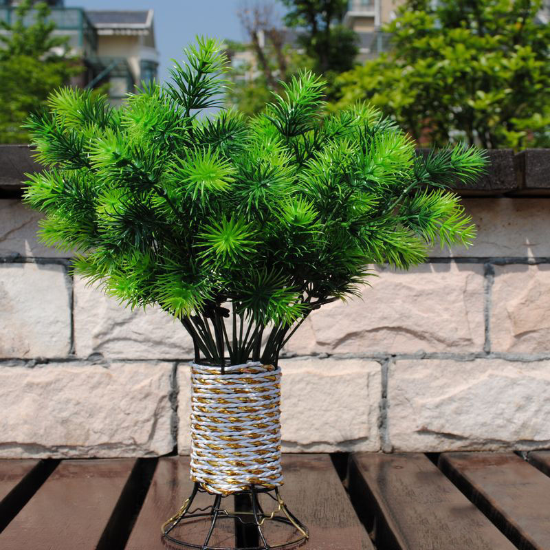 Buy 1pcplastic fake green pine tree mini for Artificial trees for home decoration