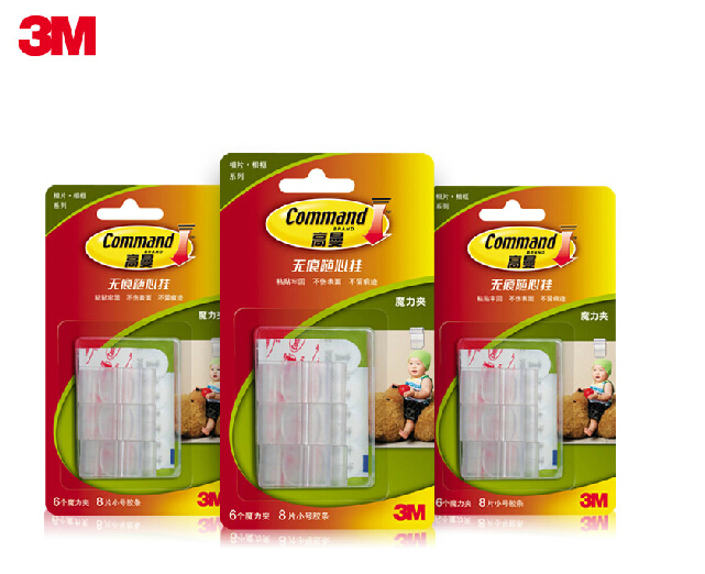 3m command picture clips for holding photos documents. Black Bedroom Furniture Sets. Home Design Ideas