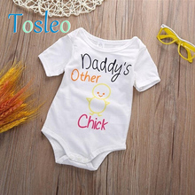 2018 Baby Clothes Summer Funny Rompers For Children Newborn Romper Onesie White Green Brown Yellow Pink Red