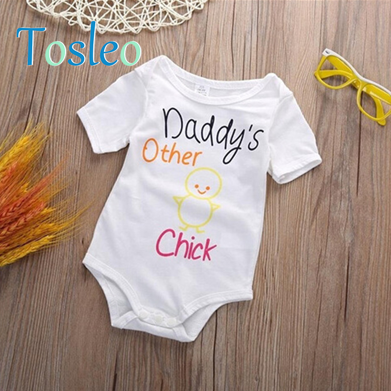 2018 Baby Clothes Summer Funny Baby Clothes Rompers For Children Newborn Romper Baby Onesie White Green Brown Yellow Pink Red