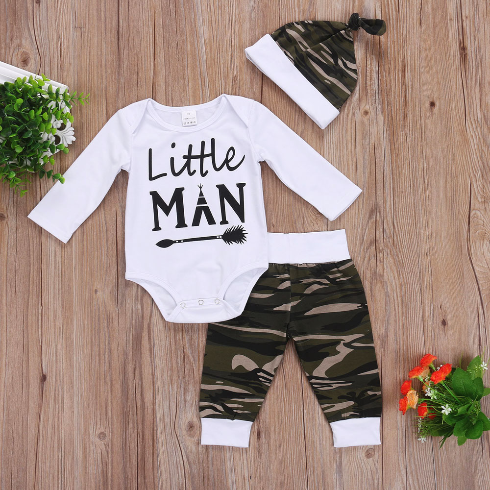 2018 Fashion Newborn Baby Girl Fashion Clothes Romper Long Pants And Hat Outfits 3Pcs Bebe Girls Clothing Wholesale Suits