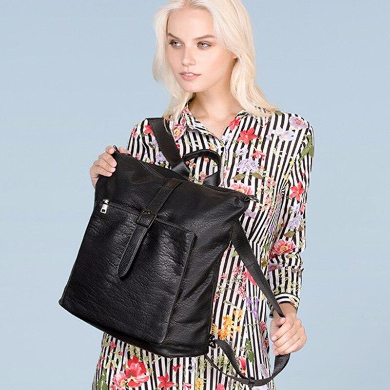 AMELIE GALANTI женские рюкзаки унисекс модные Avant-courier мульти-функция мягкая искусственная кожа непромокаемые ткани сумка для ноутбука