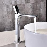 DHL Fedex ship Modern Chrome /Nickel /Black Single Handle Single Hole Bathroom Countertop Vessel Sink Faucet tap Solid Brass