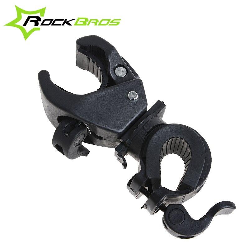 RockBros Bike Light Stand Clamp Holder Bicycle Handlebar Lights Bracket LED Flashlight Holder Torch Stands 8 DESIGNS