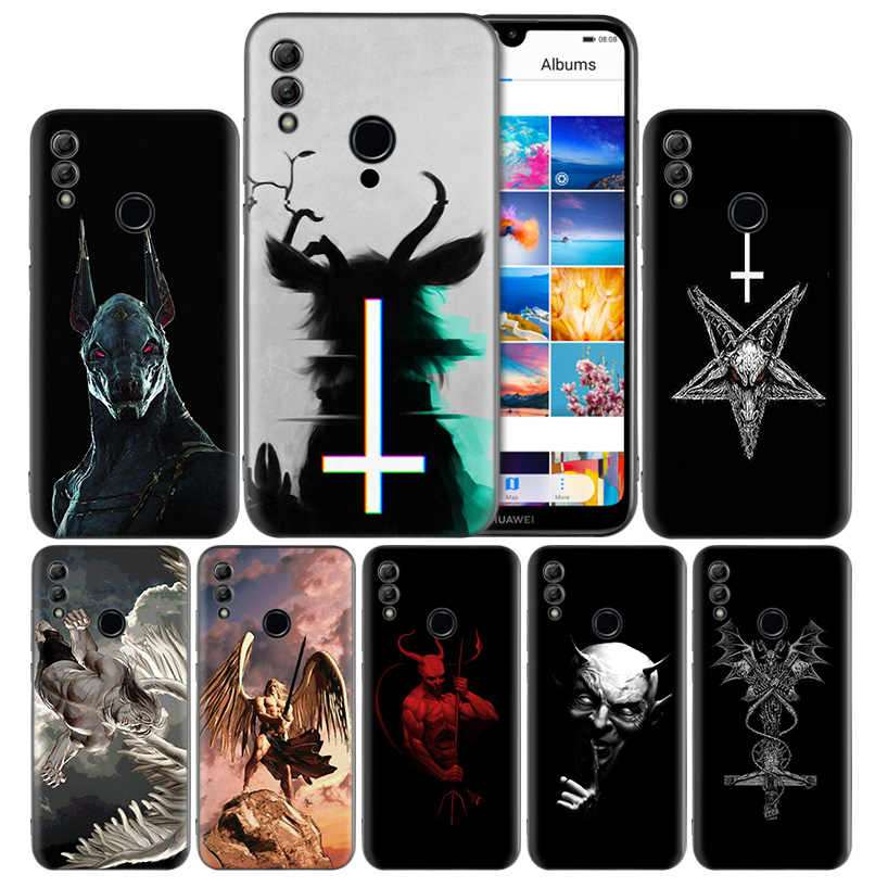 Lucifer Satan Angel Devil Silicone Case Cover for Huawei Honor 8X 8C 8A 8S 10 10i 20i 20 Play Y9 Y7 Y6 Y5 Lite Pro 2018 2019