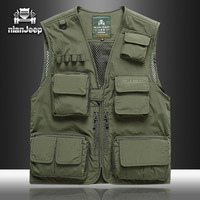 NIAN JEEP Brand Clothing tactical Vest Men 2018 New Arrival Multi pockets Photography Cameraman Vest 64