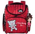 Delune kids cute bear ortopédica mochila escolar mochila niñas bolsas escuela de dibujos animados impermeable niño infantil plegable mochila