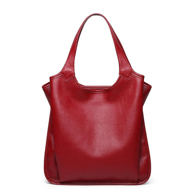New Fashion Women s Bags Genuine Leather Women Handbags Natural Cowhide Design Female Shoulder Bag Ladies
