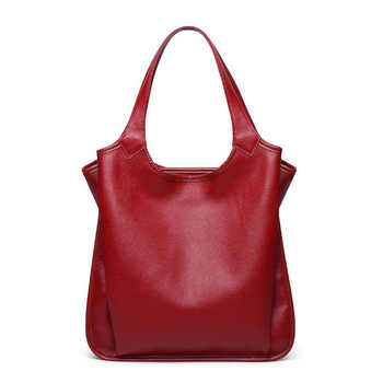 New Fashion Women's Bags Genuine Leather Women Handbags Natural Cowhide Design Female Shoulder Bag Ladies Totes - DISCOUNT ITEM  50% OFF All Category