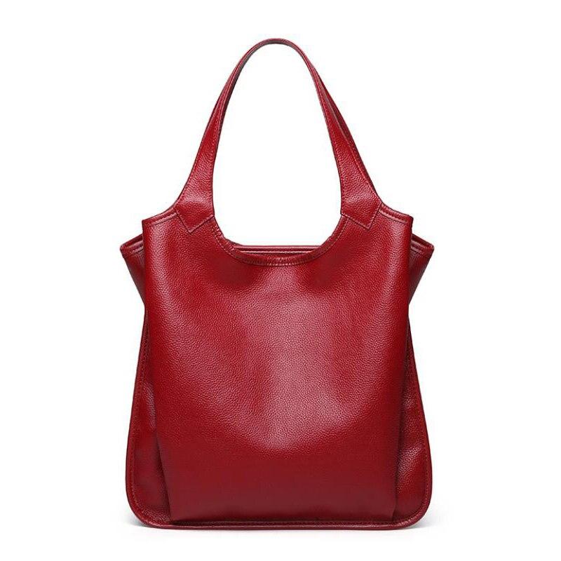 Nowe mody kobiet torby prawdziwej skóry kobiet torebki ze skóry naturalnej ze skóry wołowej projekt kobiet torba na ramię torby damskie na zakupy w Torebki na ramię od Bagaże i torby na  Grupa 1