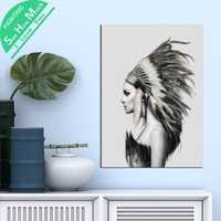 1 Piece Angel on white paper HD Printed Canvas Wall Art Posters and Prints Poster Painting Framed Artwork Room Decoration
