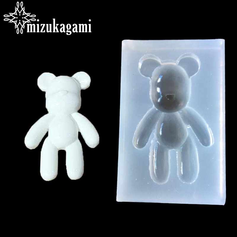 UV Resin Jewelry Liquid Silicone Mold Big Bear Charms Pendant Mold Resin Molds For DIY Pendant Charms Making Jewelry Toys