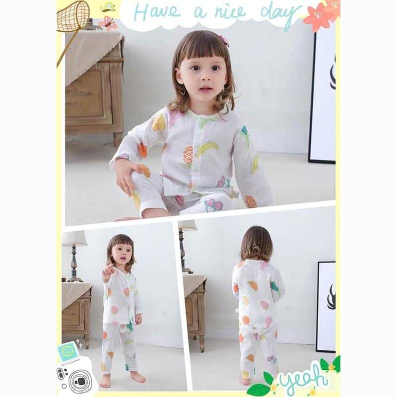 Boys Girls Pyjamas Pajamas Sets Night Suit Children Cute Print Sleepwear Baby Infant Kids Casual Clothes Set For 1-3 Year