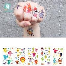 1 Pcs Animal Sticker Temporary Tattoos For Children Cartoon Plant Waterproof Temporary Tattoos
