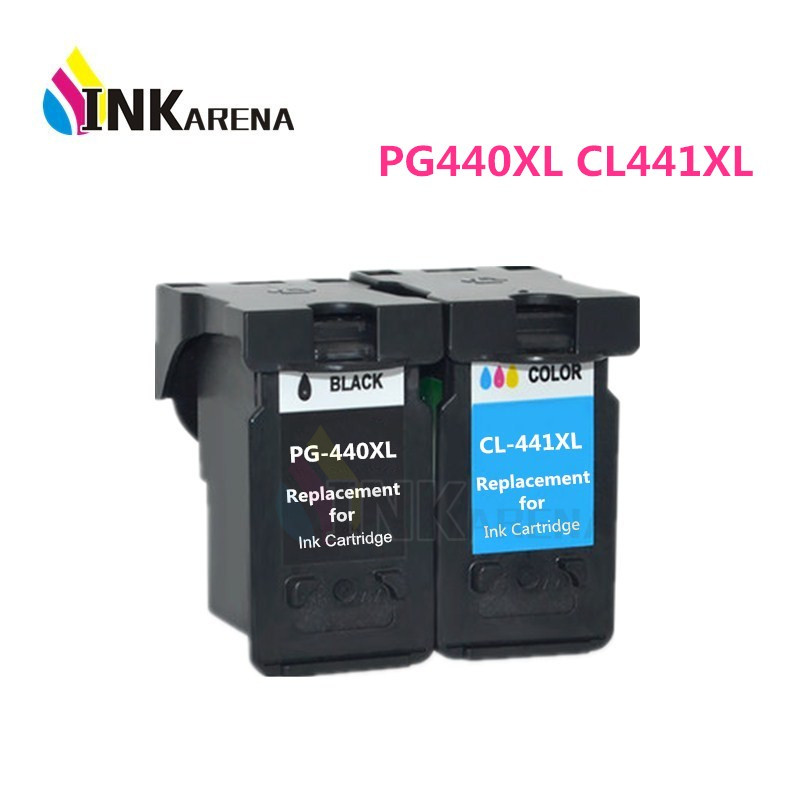 INKARENA Ink Cartridge For Canon PG440 CL441 Printer Cartridges PG-440 CL-441 XL PG 440 CL 441 PIXMA MG4240 MG4140 MG3540 MG3240 pg 240xl cl 241xl black color ink cartridges for canon mx372 mx392 mx432 mx439