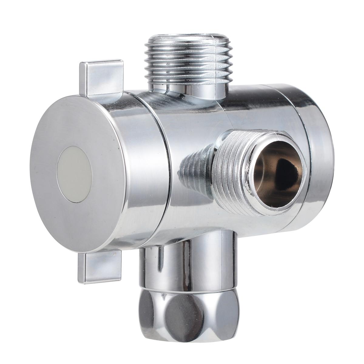 1pc 1/2inch 3 Way T adapter Diverter Bath Arm Mounted Connector Diverter Bath Adjustable Shower Diverter Valve Bathroom Part