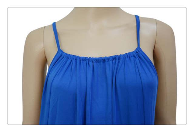 faacb7f469 New Women Summer Sleeveless Long Maxi night Dress Beach Dresses Sundress  patchwork strap ankle-length
