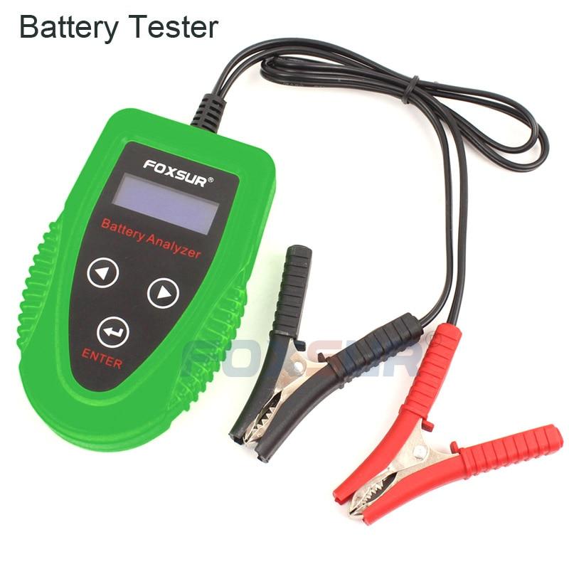 FOXSUR 12V Car battery tester  Auto Battery Analyze Car Charge Diagnostic Tool Gel AGM WET CA SLA Battery CCA IR SOH Scanner analyze