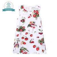 Kleinkind Mädchen Kleider 2018 Marke Sommer Prinzessin Kleid Kinder Kleidung Obst Print-Design für Baby Mädchen Kleider Kostüme 1-8Y