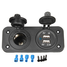 DC 12V Dual Car Cigarette Lighter Socket Splitter USB Charger Power Adapter12V car cigarette lighter