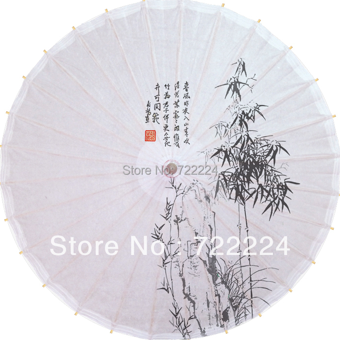 Free shipping dia 84cm Chinese handemade craft water-resistant sunscreen vintage dance collection bamboo oiled paper umbrella dia 84cm chinese handmade craft umbrella arya avalokiteshvara painting parasol decoration gift dance props oiled paper umbrella