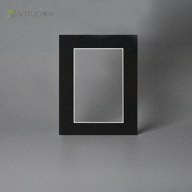 HAOTUO Photo Frame Acid Free Black Paper Photo Mats fit 5x7\'\' Photo ...
