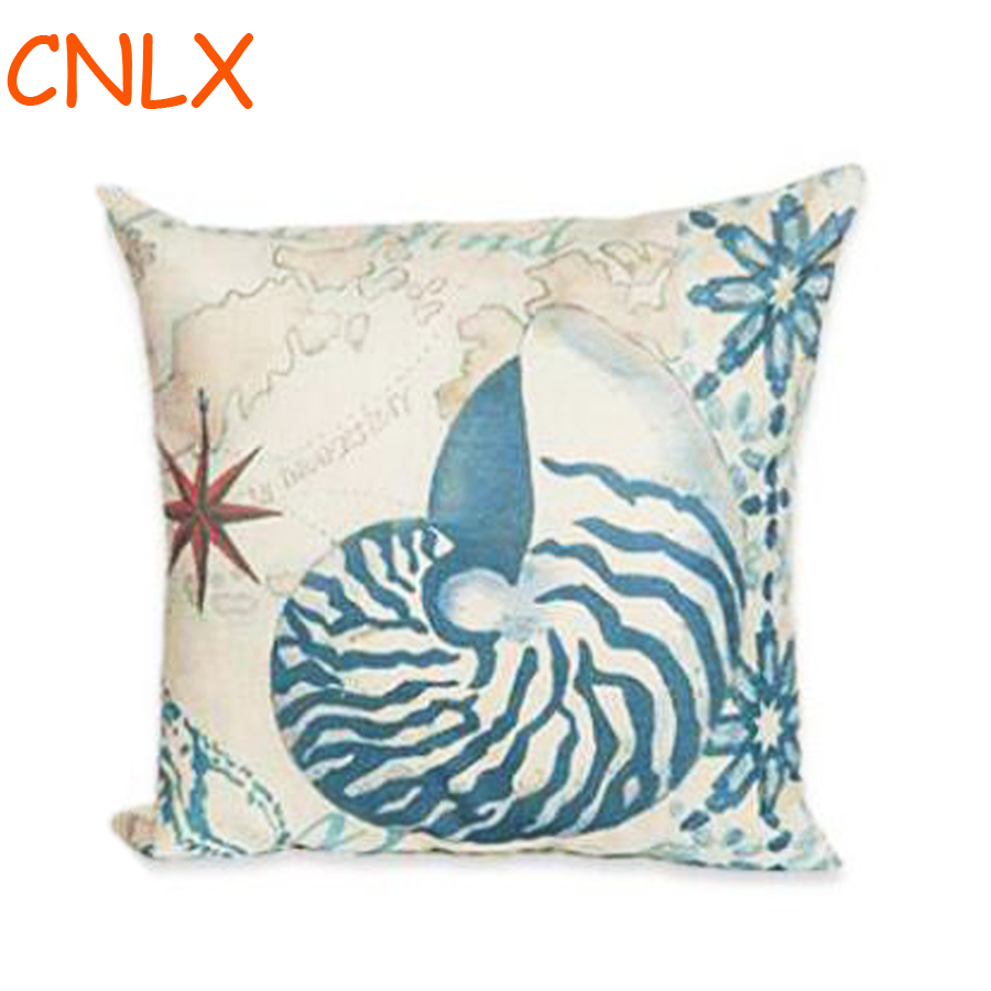 Captivating Hand Painted Marine Coral Starfish Seahorse Conch Octopus Decorative Linen  Throw Pillow Cushion For Home Accessories In Cushion From Home U0026 Garden On  ... Home Design Ideas