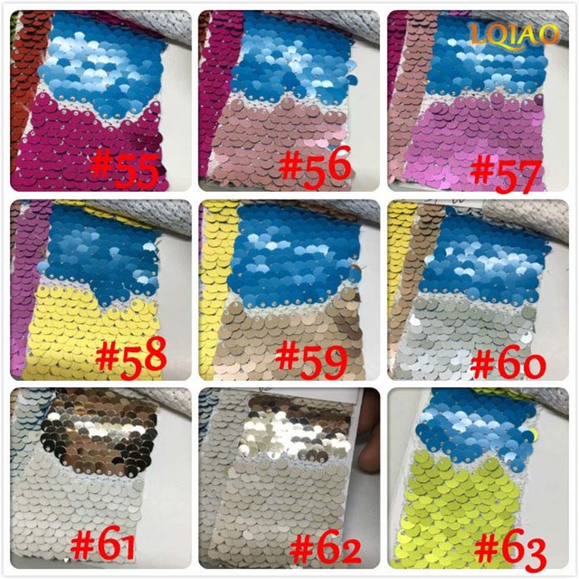 c9c4e44ea6b25 Customized 100 Yards- Wholesale Reversible Embroidered Mermaid Sequin  Fabric For Dresses/Photo Backdrop Wedding