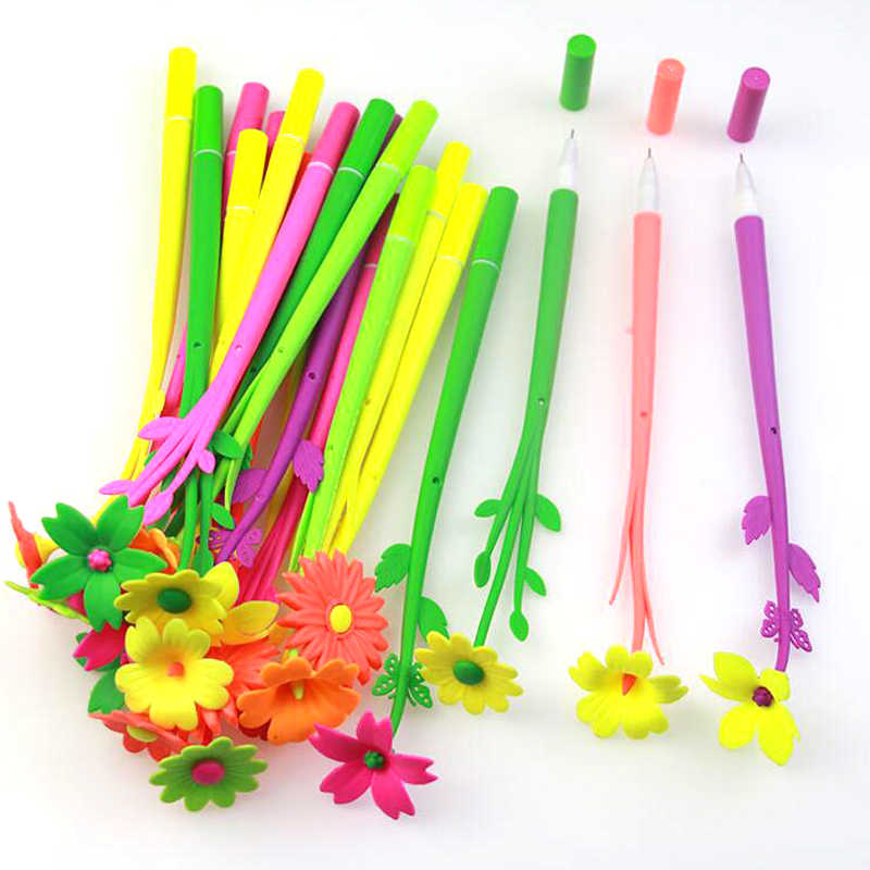 12 Pcs/1 Lot Fashion Hot Creative Stationery Bloom Sweet Lucky Flora Flowers Pen Design Ballpoint Pen Free Shipping Stationery