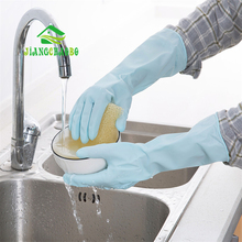JiangChaoBo Waterproof Household Gloves Kitchen Cleaning Durable Rubber Home Laundry Bowl Plastic