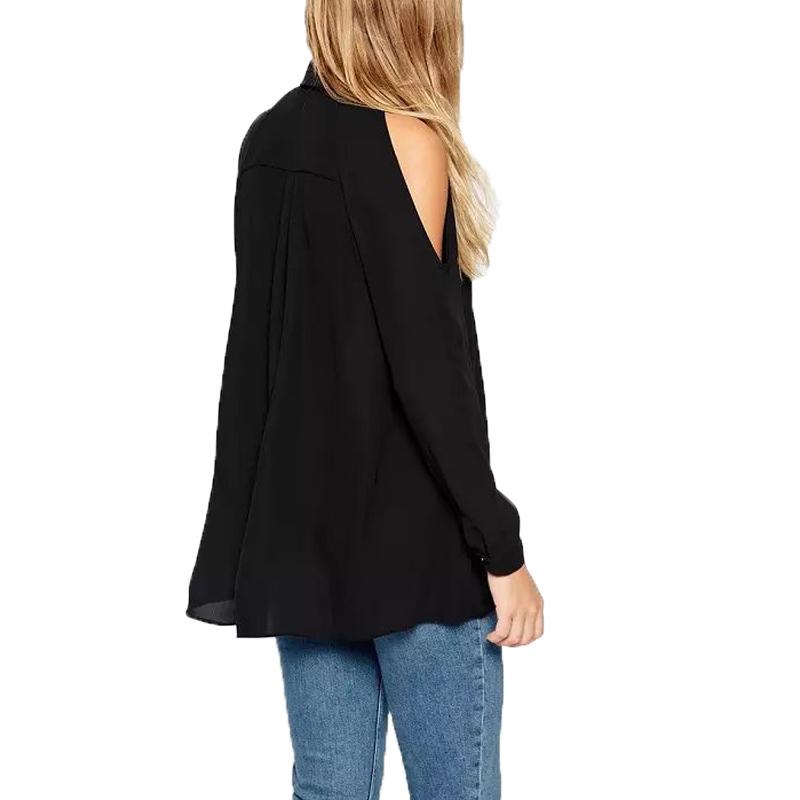2016-Summer-Women-Blouse-Sexy-Off-The-Shoulder-Long-Black-Chiffon-Blouses-Long-Sleeve-Turn-Down (1)