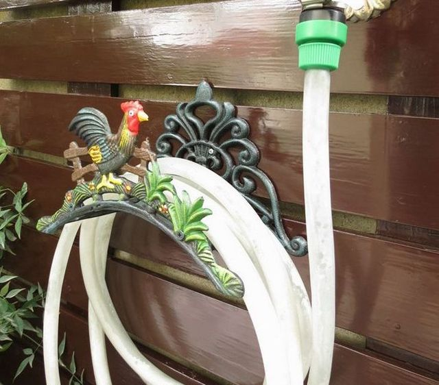 Water Hose Holder For Garden And Cottage Country Cock Wall Mounted Cast Iron  Hose Hanger Storage