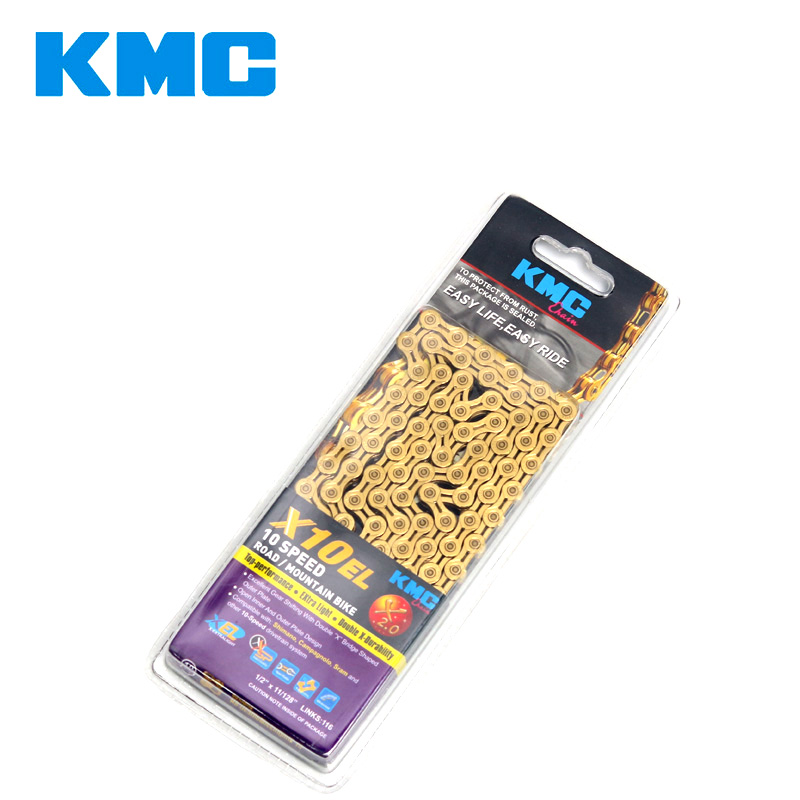 Genuine KMC X10EL Bicycle Chains 116links bike chain mountain bike road cycling accessories 10 speeds chain for Shimano sram shimano tl cn42 bicycle chain wear indicator shimano genuine goods bike accessories bike tools
