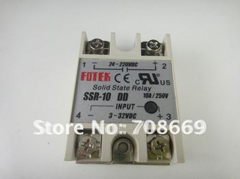 Solid State Relay SSR-10DD DC-DC 10A 3-32VDC 24-220VAC