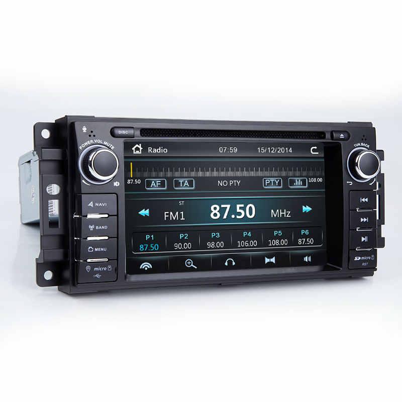 2 Din araç DVD oynatıcı Multimedya Oynatıcı Jeep Grand Cherokee Chrysler 300C Dodge Ram Pusula Patriot Sebring GPS Navigasyon AutoRadio