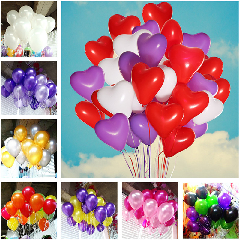 10 Inch Purple Latex Balloon Heart Inflatable Round Air Ball Wedding Happy Birthday Party Balloons Decoration Baby Shower 5pcs