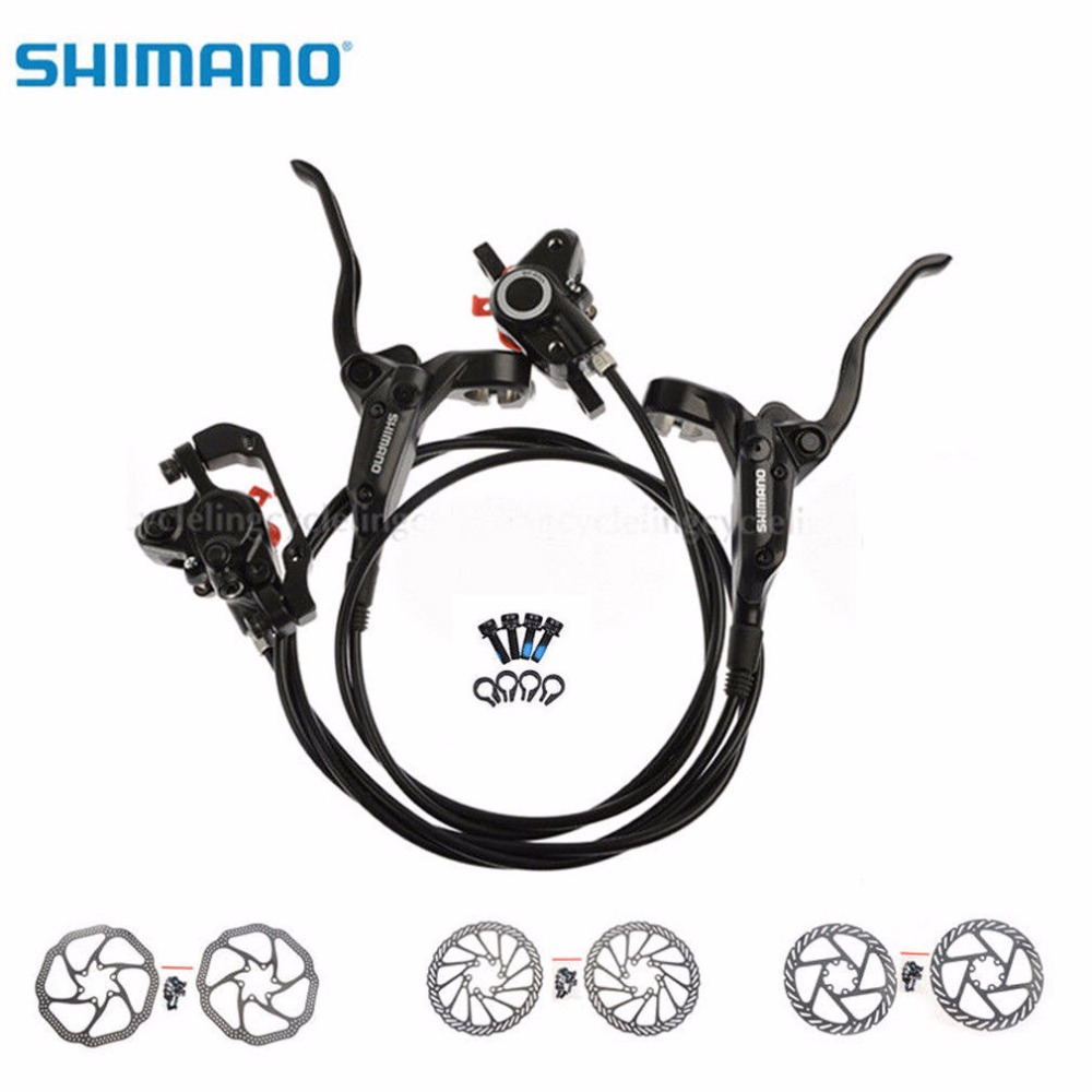 SHIMANO BR-BL-M355 Bicycle Hydraulic Disc Brake Set MTB Mountain Bike Calipers Left & Right Lever 160 mm Rotors Black shimano slx bl m7000 m675 hydraulic disc brake lever left right brake caliper mtb bicycle parts