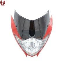 KAMANSI RAIDER 150NEW 12V35W универсальная мотоциклетная фара передняя фара аксессуары для мотоциклов красный черный корпус белый абажур