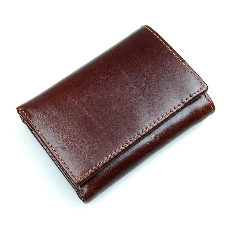 e3fa955cbcfb Men's RFID Blocking Genuine Leather Wallet, RFID Leather Trifold Wallets  for Men - Handmade Slim Mens Wallet Credit Card Holder.