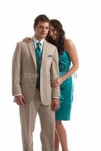 custom suit 2 Buttons Groom Tuxedos Best Man Notch Lapel Groomsmen Men Wedding Suits Bridegroom (Jacket+Pants+Tie+Vest)