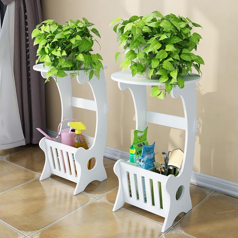 landing space fleshy white flower pot rack side flower shelf living room green bar balcony flower pot farmhouse decor