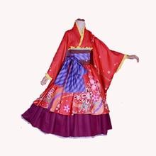 Hot Anime InuYasha Kagura Cosplay Disfraces kimono rojo