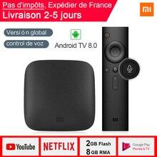 Global Version Xiaomi MI TV BOX 3 Smart TV 2GB 8GB 4K HDR Cortex-A53 Quad-core Android 8.0 WIFI Google Cast Netflix Media Player xiaomi mi box s 4k tv box cortex a53 quad core 64 bit mali 450 android 8 1 2gb 8gb hdmi2 0 2 4g 5 8g wifi bt4 2 tv box