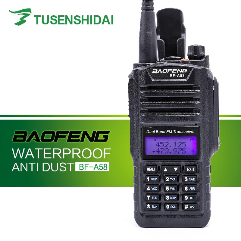 New IP-57 Waterproof Professional Walkie Talkie BAOFENG Radio Station Ham Two Way Radio BF-A58
