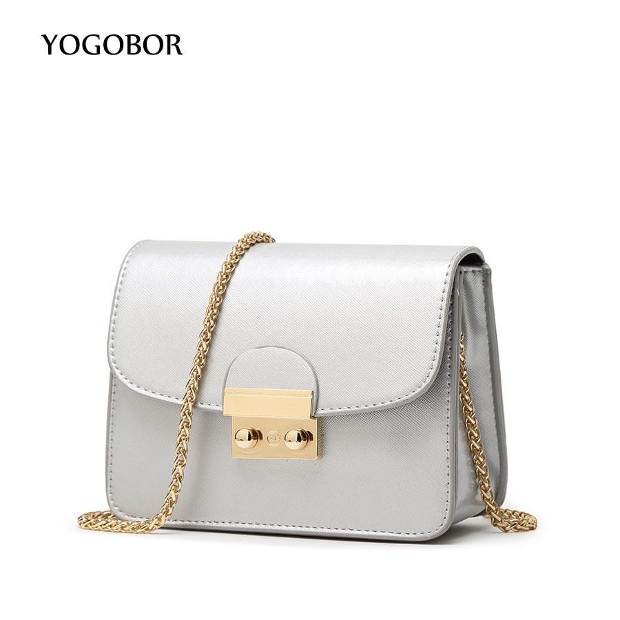 Famous designer brand bags women leather handbags Chain Solid Shoulder Bag mini bags Woman Messenger Bag