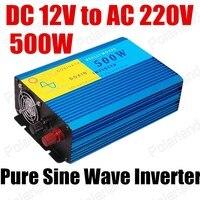 2016 DC 12 В к AC 220 В конвертер автомобиля мощность Инвертор 500 Вт Чистая синусоида Новый Чистая синусоида Инвертор конвертер 50 Гц для продажи