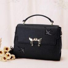 Europe 2017 new fashion leisure bag bag satchel handbag hardware simple all-match swallow
